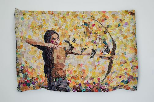 """""""Evan,"""" tapestry, by Blains Treuer."""