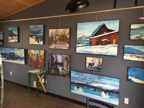 David Gilsvik is exhibiting the work he created during quarantine, inspired by his trip to Scandinavia before the Covid lockdown. They are on exhibit at the Cedar Coffee House in Two Harbors.