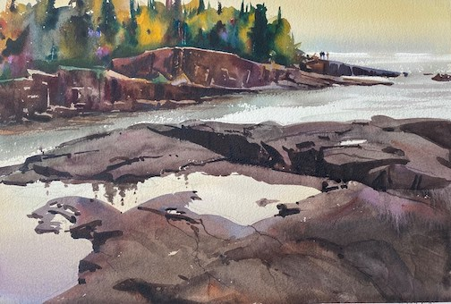"""Artist's Point Calm,"" by James Turner, is one of the plein air paintings currently on view at the Johnson Heritage Post. This is the last weekend to see the work at the gallery."