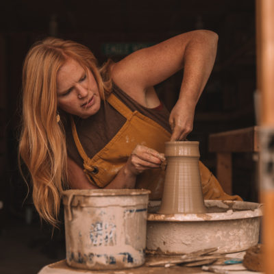 Potter Hannah Palma was recently featured on Perfect Duluth Day. Photo by Ashley Bredemus.