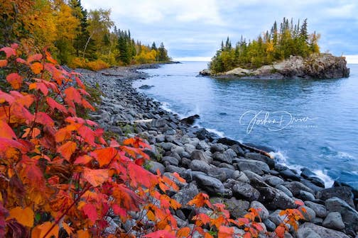A Lake Superior fall by Josh Driver.