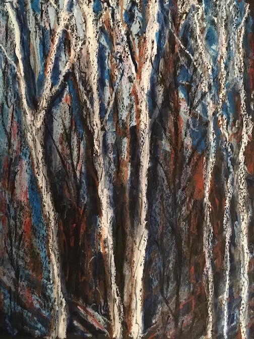 Winter Birches by Marti Mullen.