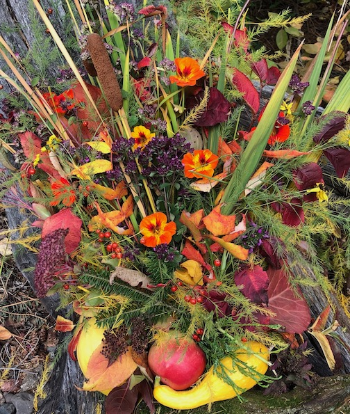 Bouquet on a cool fall day by Maryl Skinner.
