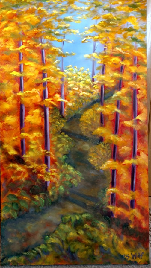 Painting Fall by Paula Sundet.