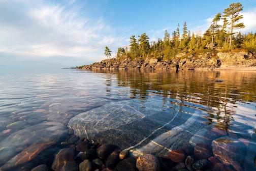 Calm. Lake Superior near the Soo by Dan Grisdale.