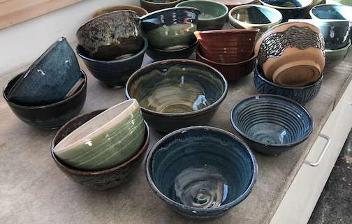Potters at the Grand Marais Art Colony have made lots of bowls for this year's Empty Bowls event, a fundraiser to help feed the hungry in Cook County.