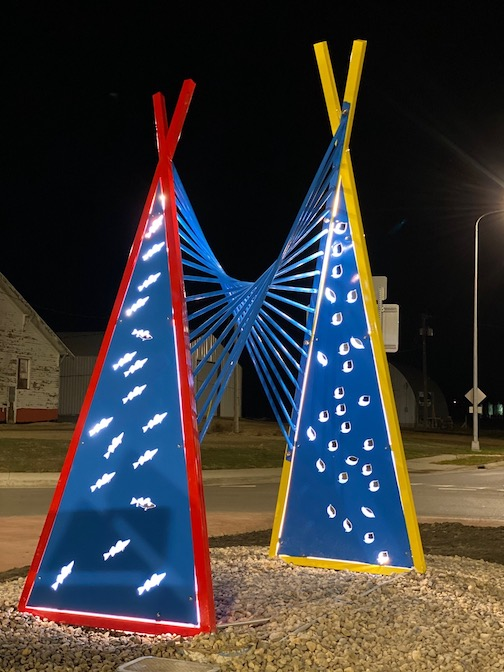 Pathway Parabola by Greg Mueller was recently installed in South Dakota.