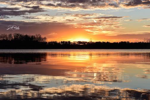 St.Louis River sunrise by Jamie Rabold.