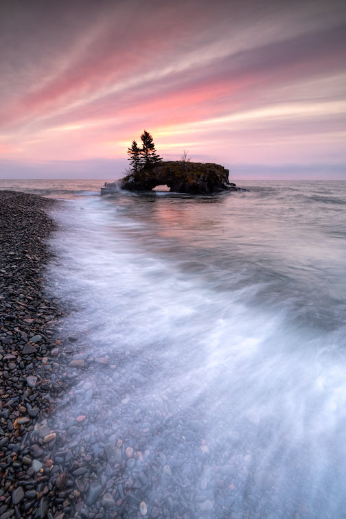 Breaking wave at Hollow Rock by Jim Schnortz.