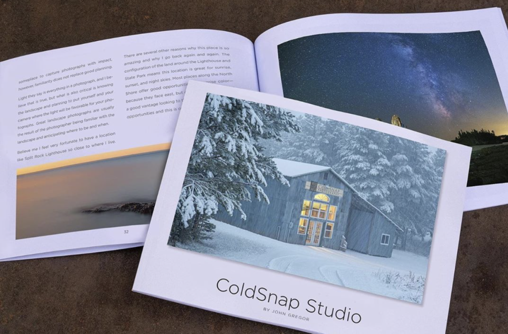 John Gregor's new book, Coldsnap Studio, is at the printers.