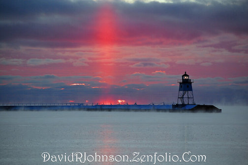 A sunset in winter by David Johnson, is one of the photographs in the Johnson Heritage Post exhibit.