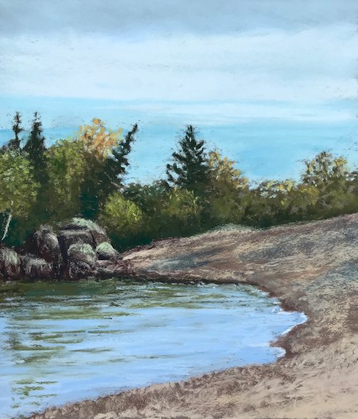 """Calm Wind"" by Kristin Blomberg is one of the plein air paintings currently on view at"