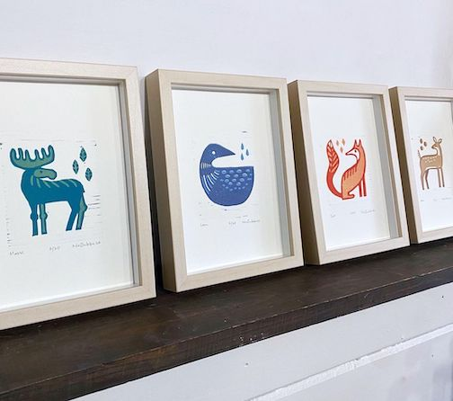 Nan Onkka has created a new series of prints featuring different animals.