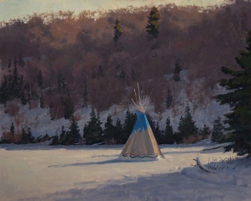 """Neil Sherman's """"Bearskin Lake"""" is one of his entries in the Coors Western Art Show this year."""