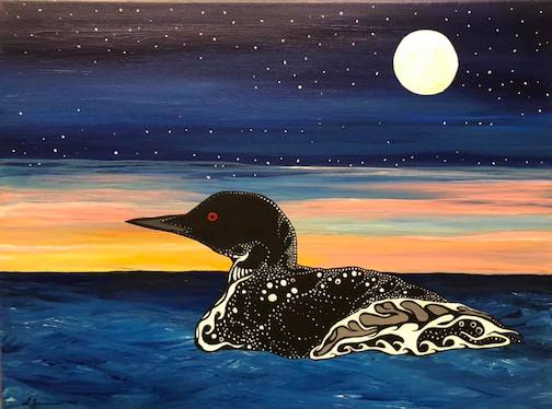 Sam Zimmerman just completed this painting: Maamg, Sunrise Swim.