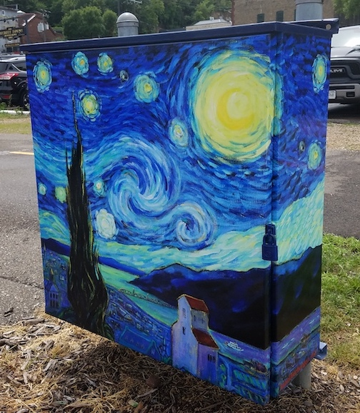 Starry Night over Stillwater, the St. Croix by Jane Dierberger.
