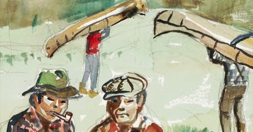 """Trading on the Laurentian Divide,"" detail, by Carl Gawboy."
