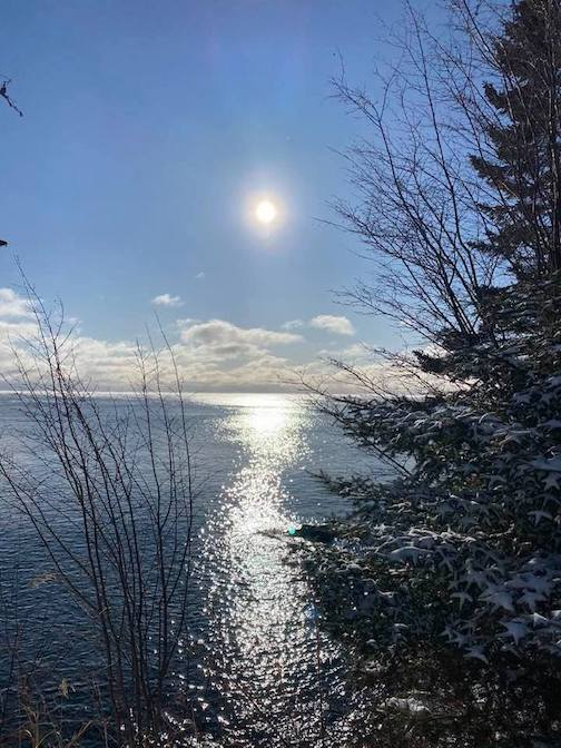 A crisp day over Lake Superior by Ann Swallow Gillis.