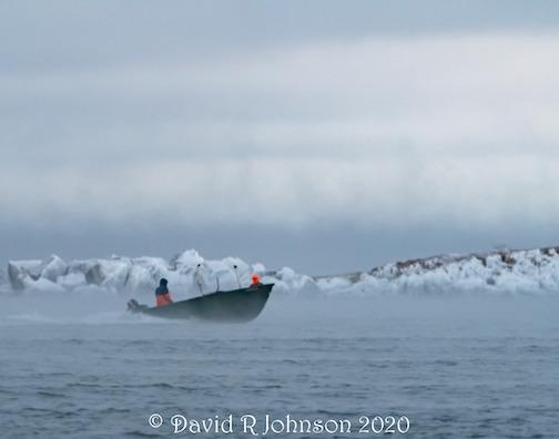 Fishermen heading home at -18F windchill by David Johnson.