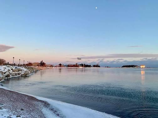 The Grand Marais Harbor by David Welch.