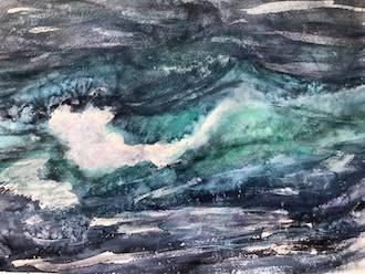 !00-Day Art Challenge, Wave Series by Deborah Birkeland.