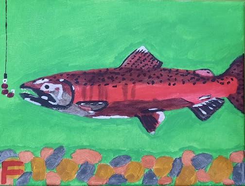 Coho Salmon by Francis Trout Endrezzi, age 14.