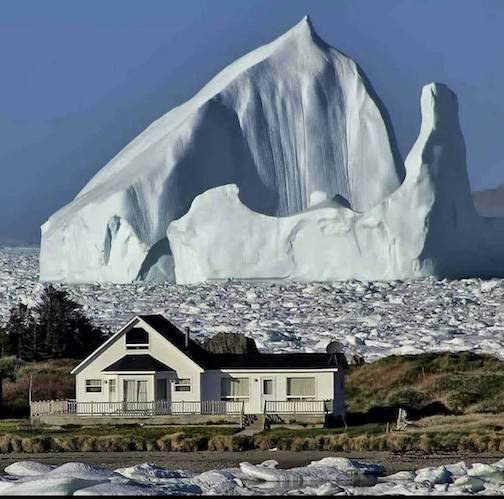 Iceberg, Newfoundland Coast, 2017.Photographer unknown.