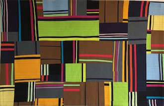 Line Dancing 1, contemporary quilt by Mary Matthews.