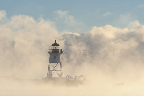 Sea smoke by Mark Tessier.