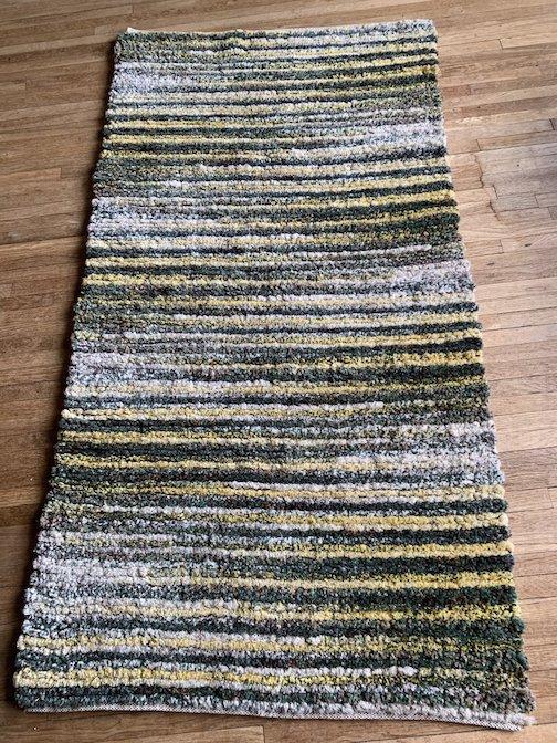 Twice-woven rug by Mary MacDonald.