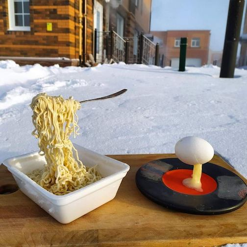Breakfast in Novosibirsk, where it was -40F by Ron Klassen.