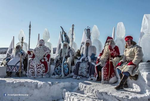 Santas of Northern Russ by Vladimir Sevrinovsk.