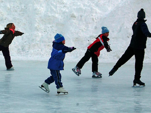 The Outdoor Skating Rinks at the Cook County Community Center are open.