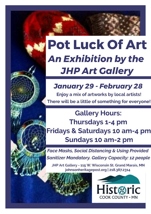 Pot Luck of Art opens at the Johnson Heritage Post on Friday, Jan. 29 and continues through February.