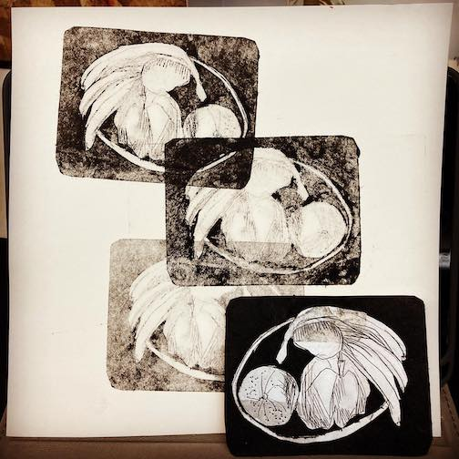 Experiments in intaglio by Betsy Bowen.