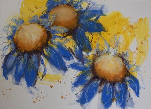Healing II, acrylic, by Linda Ricklets Baudry.