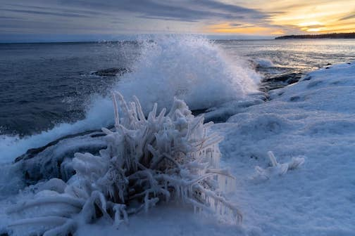 The icy shores of Lake Superior by Josh Driver.