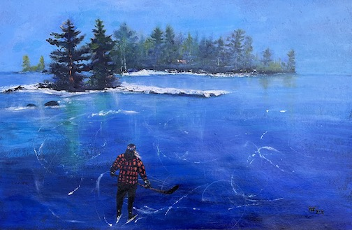"""""""Wild Ice"""" by Kathy Weinberg."""