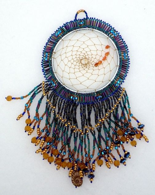 Beaded dreamcatcher by Linda Ottis.