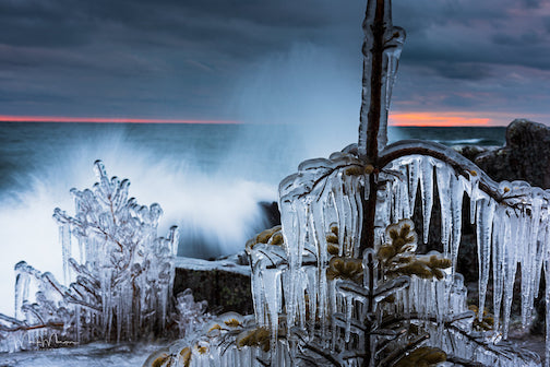 Sunset in Grand Marais by Mark Morgen.