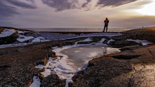 Walking the causeway by Mark Tessier.