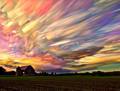 Photo of 100 sunsets by Matt Molloy.