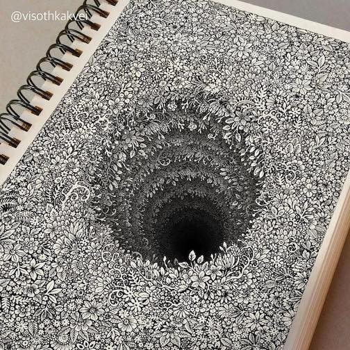 One of the tiny doodles by artist Visothkakvei.