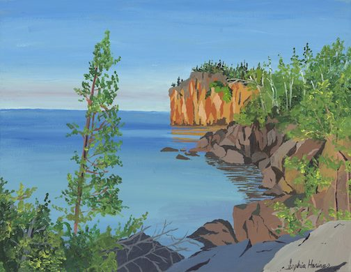 This painting by Minneapolis artist Sophia Harrings, inspired by a photograph by Ken Harmon, is on the cover of this year's issue of the North Shore Explorer.