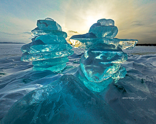 Lake Superior making ice by Anna Buslke.