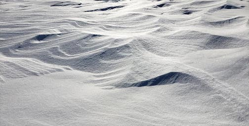Snow formations on West Bearskin by Annie Possis.