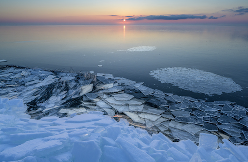 Ice to the horizon by Bryan Hansel.