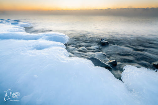 Lake Superior's icy landscape by Charles Howard Smith.