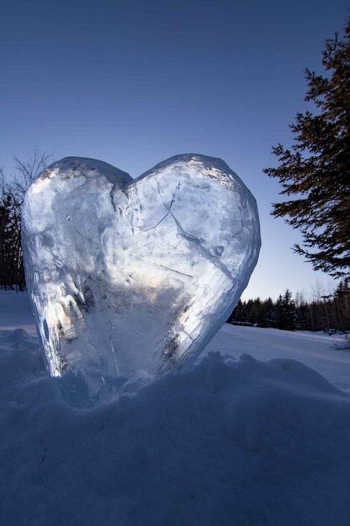 An icy Valentine to warm your heart by Chris Artist.