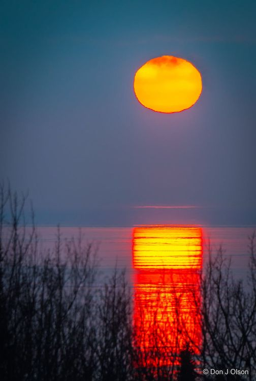 Lake Superior sunrise by Donald Jay Olson.